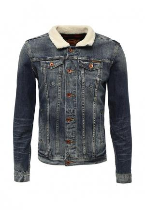 Куртка джинсовая Superdry. Цвет: синий