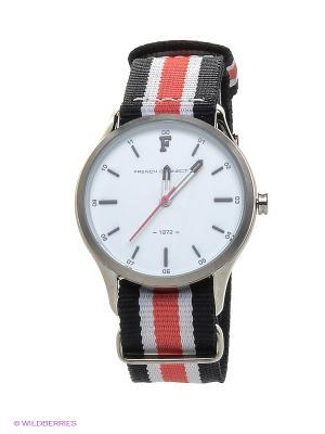 Часы FRENCH CONNECTION. Цвет: красный, черный, серебристый