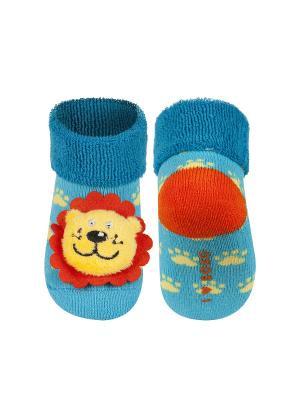 Носки детские с игрушкой Soxo. Цвет: голубой