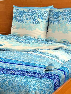 Комплект постельного белья Letto B96-6, бязь, евро. Цвет: голубой