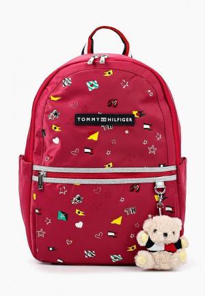Рюкзак Tommy Hilfiger. Цвет: бордовый