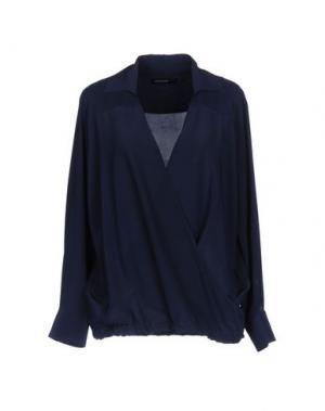 Блузка FABRIZIO LENZI. Цвет: темно-синий