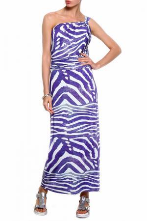 Платье ROSANNA PELLEGRINI. Цвет: черный, фиолетовый