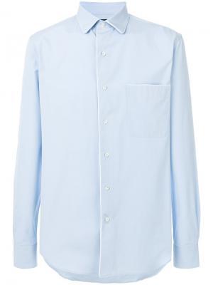 Классическая рубашка Gabriele Pasini. Цвет: синий