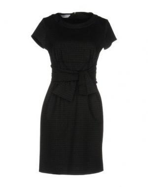 Короткое платье BIANCOGHIACCIO. Цвет: стальной серый