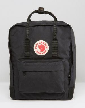 Fjallraven Черный рюкзак Kanken 16L. Цвет: черный