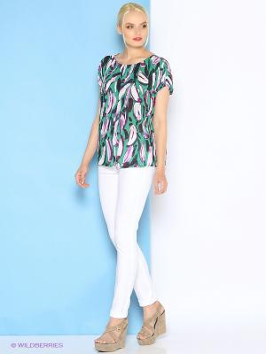 Блузка Trussardi. Цвет: зеленый