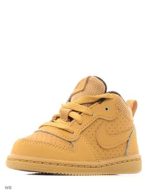 Кеды NIKE COURT BOROUGH MID (TD). Цвет: желтый