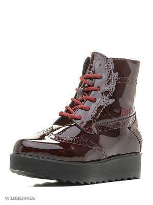 Ботинки GUT. Цвет: бордовый