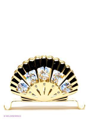 Салфетница Ракушка Юнион. Цвет: золотистый, голубой