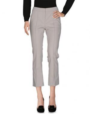 Повседневные брюки LUISA CERANO. Цвет: светло-серый