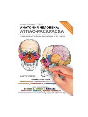 Анатомия человека: атлас-раскраска Эксмо. Цвет: белый