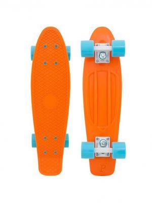 Комплект лонгборд ORIGINAL 22 (SS) PENNY. Цвет: голубой, оранжевый