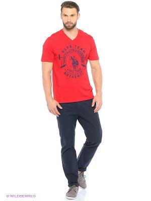 Футболка U.S. Polo Assn.. Цвет: красный