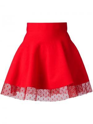 Пышная мини-юбка Piccione.Piccione. Цвет: красный