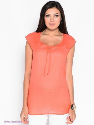 Блузка ESPRIT. Цвет: коралловый