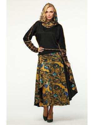 Костюм: юбка, джемпер KATA BINSKA. Цвет: желтый
