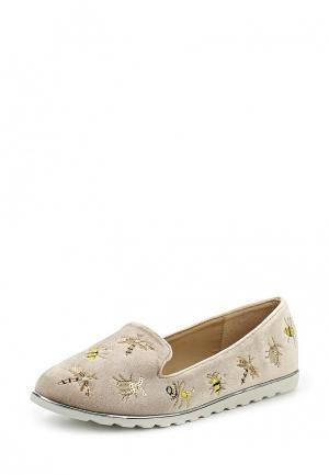 Лоферы Ideal Shoes. Цвет: бежевый