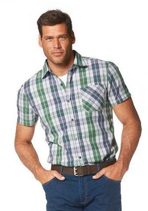 Рубашка с коротким рукавом Grey Connection. Цвет: зеленый + синий + белый