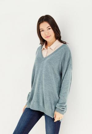 Пуловер Ichi. Цвет: голубой