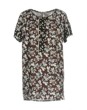 Блузка FAIRLY. Цвет: темно-коричневый