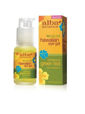 Гель с зеленым чаем для кожи вокруг глаз,  28 гр Alba Botanica. Цвет: прозрачный
