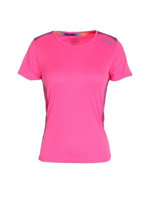 Футболка DIADORA. Цвет: розовый