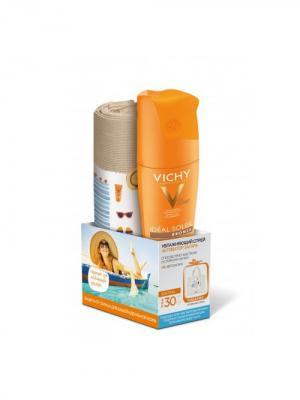 Vichy capital soleil, увлажняющий спрей активатор для тела SPF30, 200мл+Пляжная сумка в подарок. Цвет: рыжий