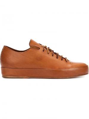 Кеды на шнуровке Feit. Цвет: коричневый