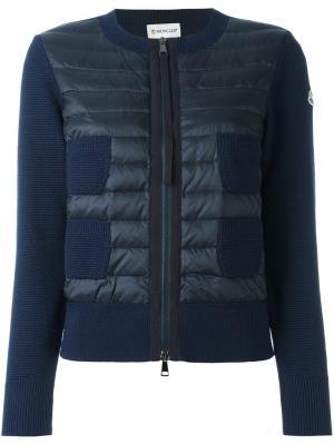 Куртка с карманами Moncler. Цвет: синий