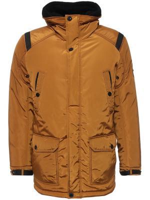 Куртка Finn Flare. Цвет: светло-коричневый