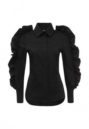 Блуза Elisabetta Franchi. Цвет: черный
