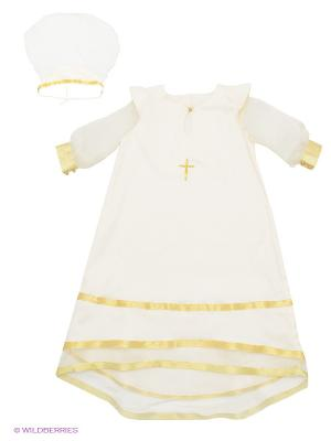 Комплект для крещения Ангел мой. Цвет: кремовый, золотистый