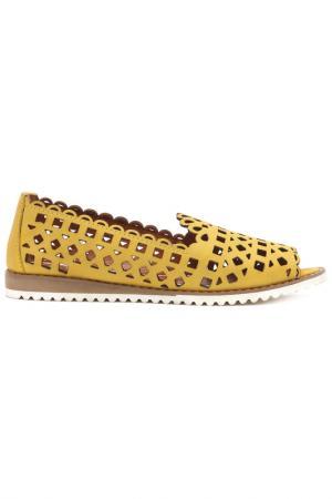 Туфли летние Sandm. Цвет: жёлтый