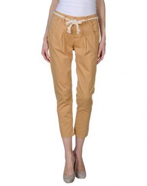 Повседневные брюки QUEEN of LOVE. Цвет: песочный