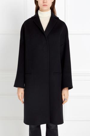 Шерстяное пальто Tegin. Цвет: черный