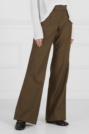 Расклешенные брюки Diane von Furstenberg. Цвет: коричневый