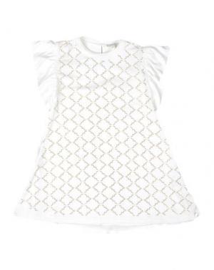 Платье MICROBE. Цвет: белый