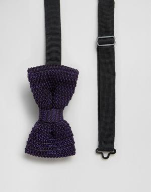 Gianni Feraud Фиолетовый вязаный галстук-бабочка. Цвет: фиолетовый