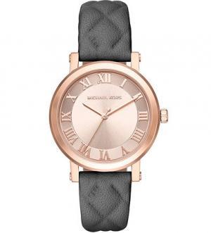 Часы с кожаным браслетом в клетку Michael Kors