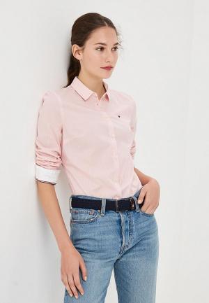 Рубашка Tommy Jeans. Цвет: розовый