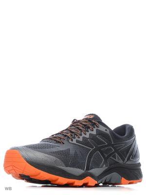 Кроссовки GEL-FujiTrabuco 6 ASICS. Цвет: оранжевый, серый, черный