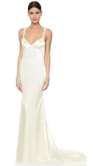 Вечернее платье Lanai Katie May. Цвет: золотой