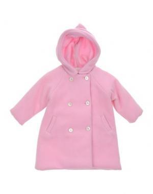 Пальто LA STUPENDERIA. Цвет: розовый