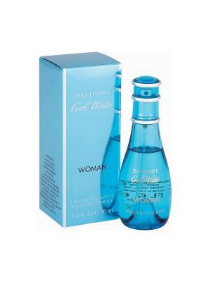 Cool Water lady edt 30 ml DAVIDOFF. Цвет: голубой