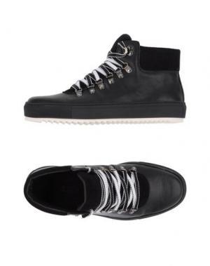Высокие кеды и кроссовки JOYKS. Цвет: стальной серый