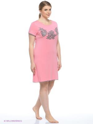 Ночная сорочка Infinity Lingerie. Цвет: бледно-розовый