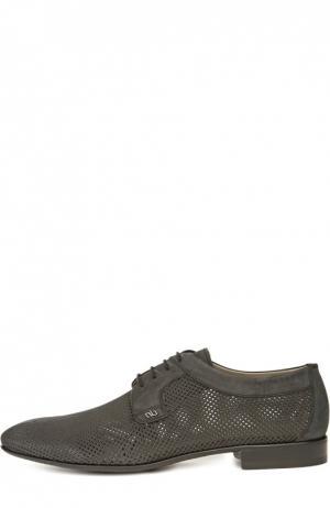 Перфорированные туфли Aldo Brue. Цвет: черный