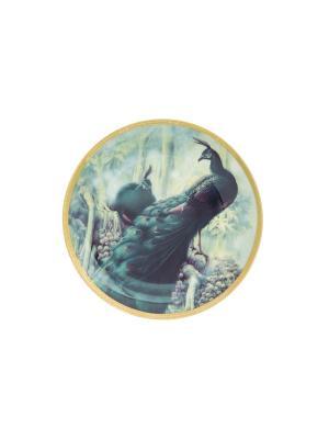 Тарелка декоративная Жар-птица Elan Gallery. Цвет: зеленый