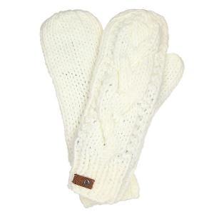 Варежки женские  Winter Bright White Roxy. Цвет: белый